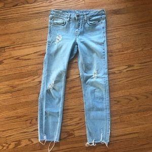 Zara Basic Distressed Skinny Jeans